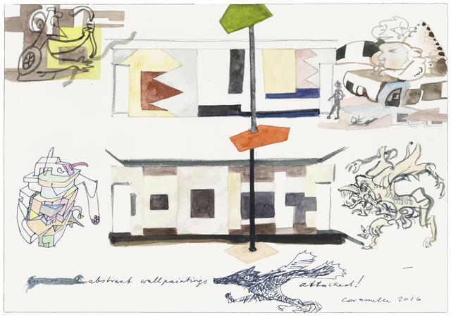 , 'abstract wallpaintings attacked!,' 2016, Galerie nächst St. Stephan Rosemarie Schwarzwälder