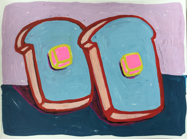 Tori Tinsley, 'Bread & Butter Blue with Pink Butter', 2017, HATHAWAY | Contemporary Gallery