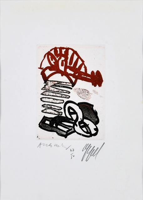 """Karel Appel, 'Page for """"Suite à deux""""', 1978, Millon Belgium"""