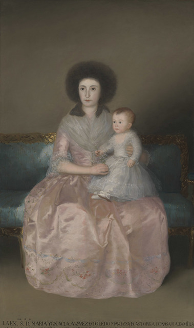 , 'The Countess of Altamira and Her Daughter, María Agustina,' 1787, The National Gallery, London