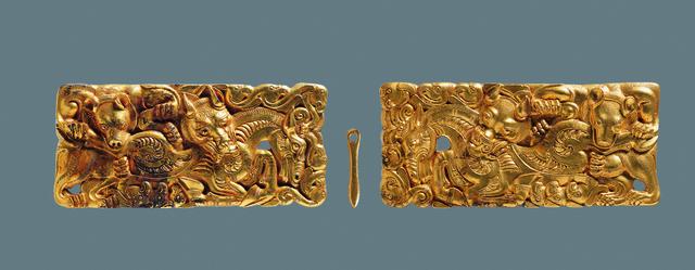 , 'Belt buckle,' 206 BC -9 AD, Musée national des arts asiatiques - Guimet