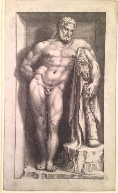 , 'The Farnese Hercules,' ca. 1570, Pia Gallo