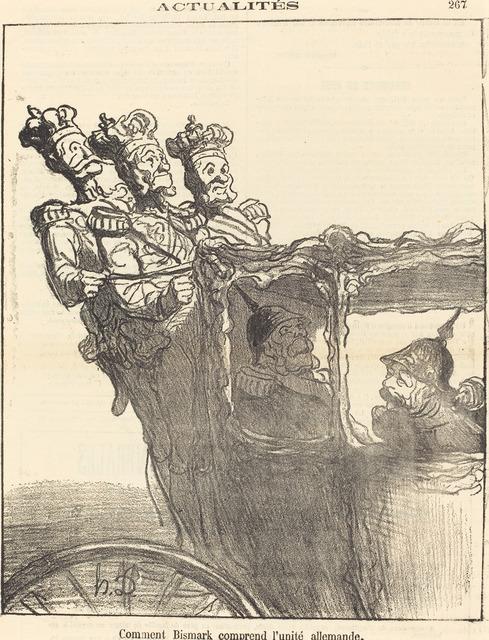 Honoré Daumier, 'Comment Bismarck comprend l'unité allemande', 1870, National Gallery of Art, Washington, D.C.