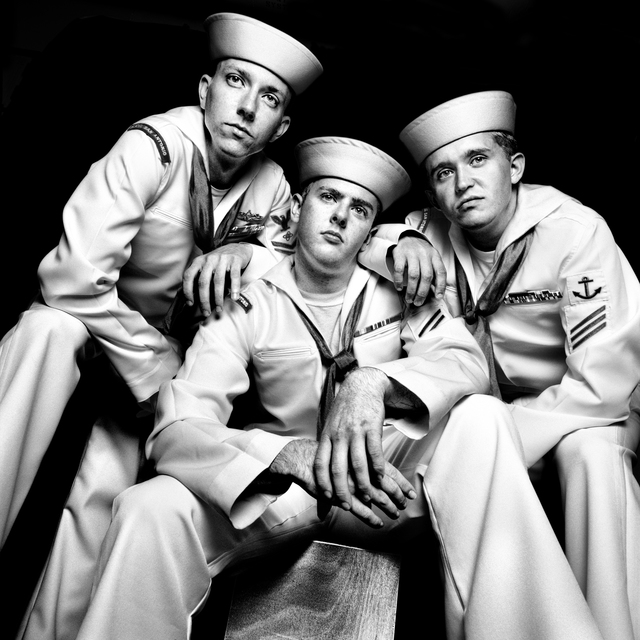 , 'SERVICE: Petty Officer 2nd Class Alex Smith, Seaman Apprentice Jeremiah Lineberry, and Seaman Hoyt.,' 2008, Milk Gallery