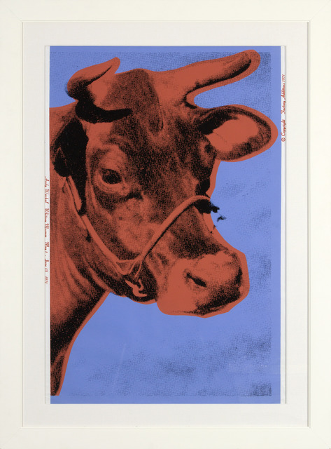 , 'Cow (IIA Blue Background),' 1971, Heather James Fine Art