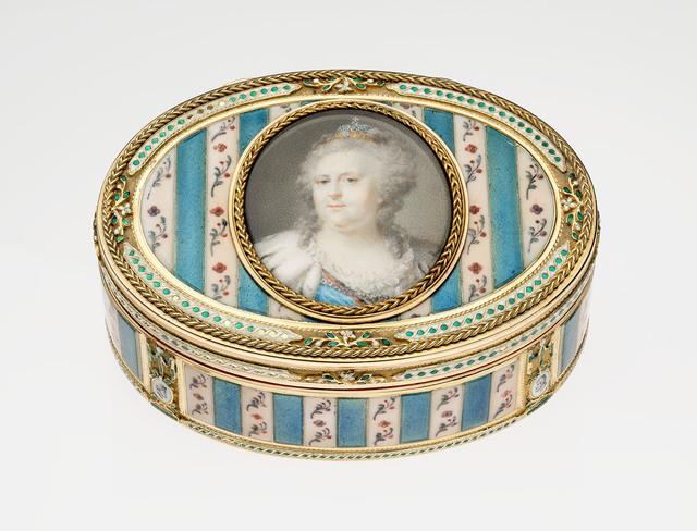 , 'Oval Snuffbox with Miniature of Catherine the Great,' ca. 1775, Kimbell Art Museum