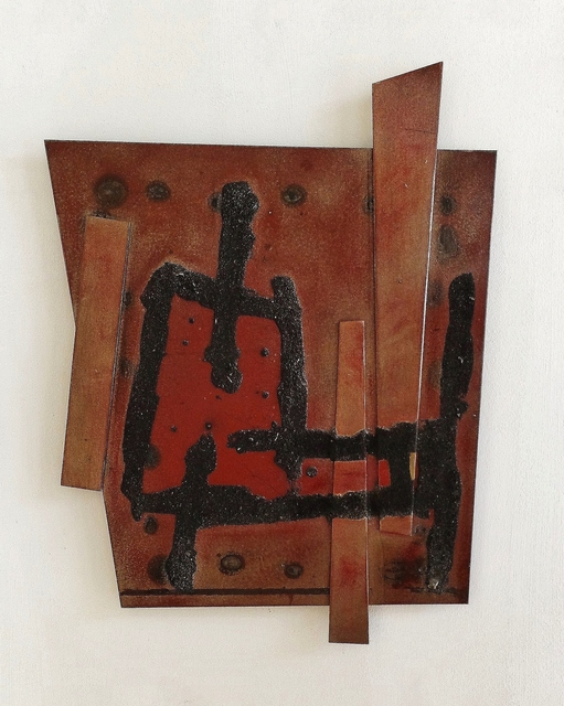 , 'Red and Brown Relief,' 2015, Valley House Gallery & Sculpture Garden