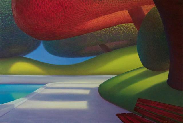 , 'Lit red tree,' 2018, Ian Tan Gallery