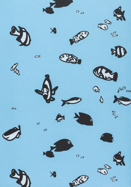 Julian Opie, 'Fish', 2007, Print, Woodcut printed on wallpaper, Forum Auctions
