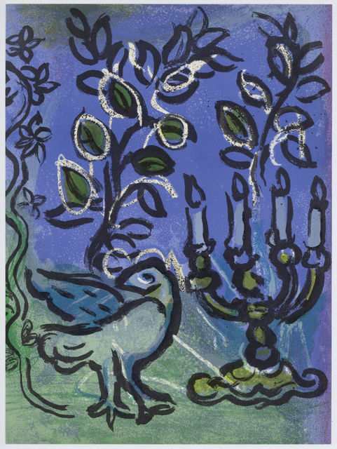 Marc Chagall, 'The Candlestick', 1962, Print, Original Lithograph, Inviere Gallery