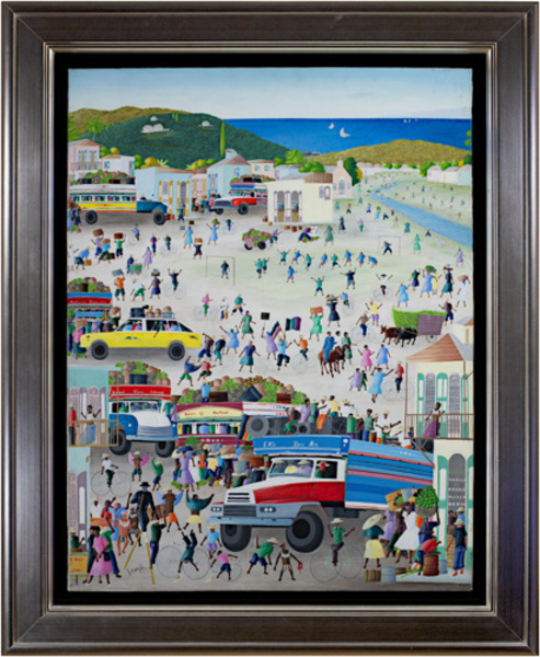 , 'Haitian Village Market by the Sea,' 2001, David Barnett Gallery