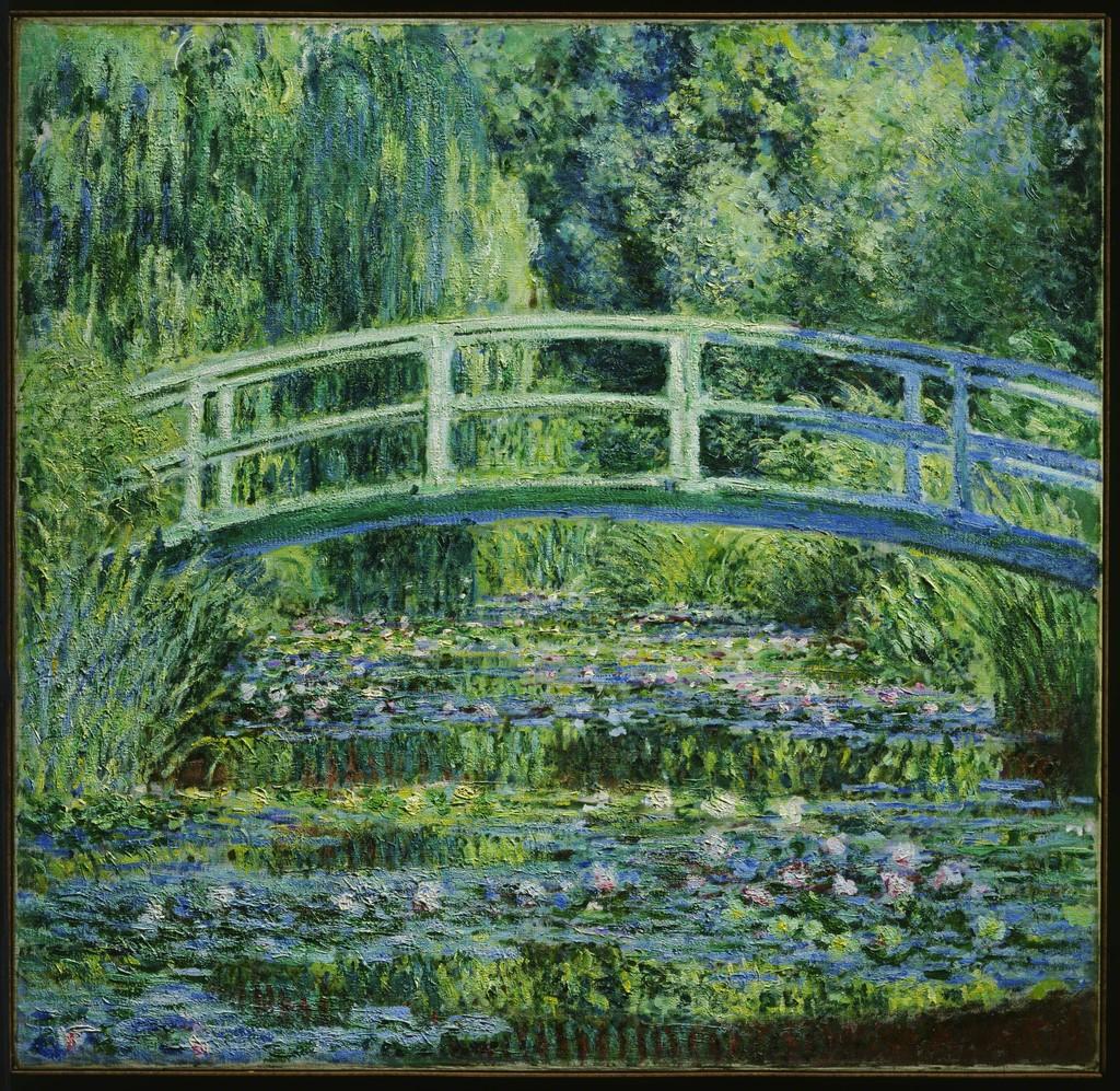 Claude Monet Water Lilies And Japanese Bridge 1899
