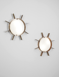 "Gio Ponti, 'Pair of ""Il Sole"" wall lights,' ca. 1962, Phillips: Design"