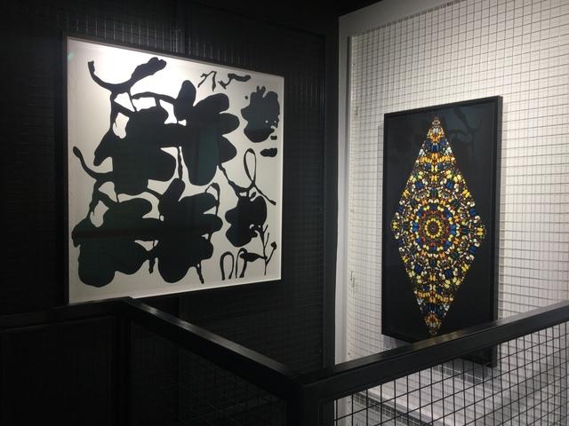 Donald Sultan, 'Lantern Flowers, Black and White FRAMED', 2017, Joseph Fine Art LONDON