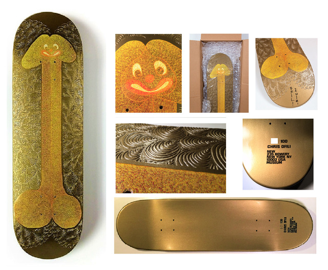 """Chris Ofili, '""""Untitled"""" Skate Deck, 2014, New Museum NYC- Signed/Numbered/Dated Edition of 100.', 2014, VINCE fine arts/ephemera"""
