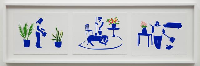 Ramiro Gomez, 'Azul - Three Scenes', 2019, Charlie James Gallery
