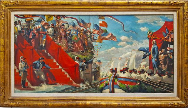 Robert Riggs, 'George Washington in  Marine Procession for New York  Presidential Inauguration. Life Magazine', 1960, Robert Funk Fine Art