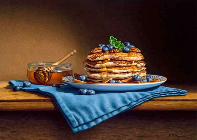 , 'Pecan and Blueberry Pancakes,' 2018, Catto Gallery