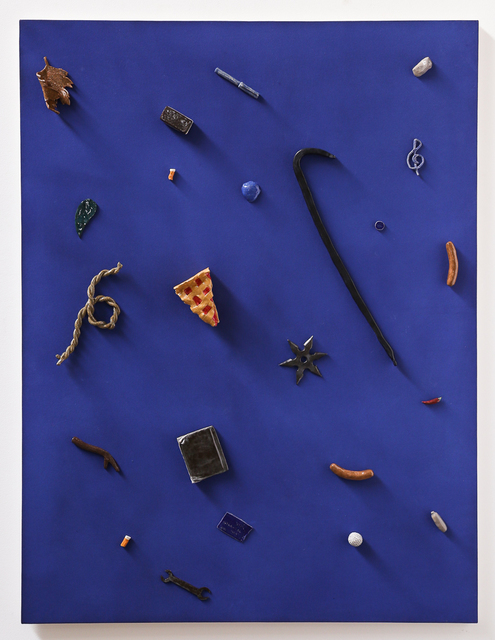 , 'Untitled (crowbar, credit card, pie),' 2016, Kavi Gupta