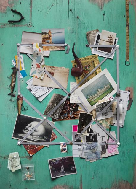 , 'Handmade: Letter rack (Acqua and grey ribbon),' 2017, Galeria Nara Roesler