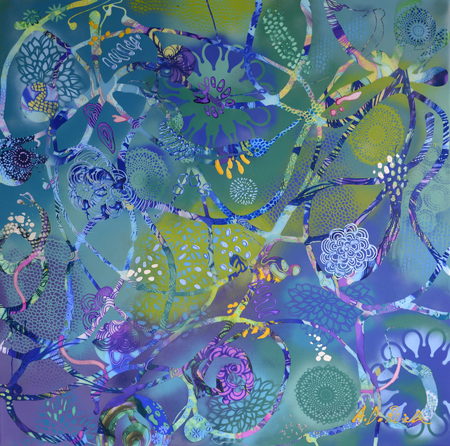 , 'Custo Blue Fusion,' 2015, 530 Burns Gallery