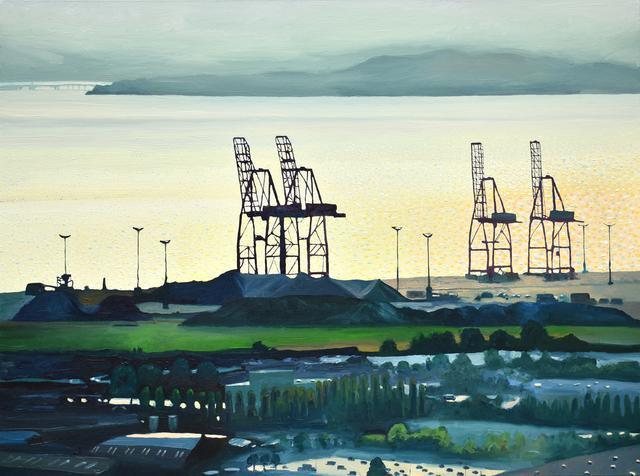 David Leonard, 'Bay Cranes', Davis Gallery & Framing