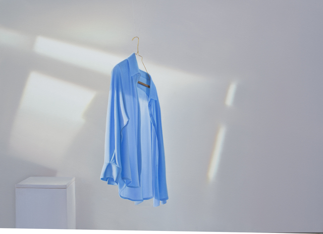 Edite Grinberga, 'Blaues Hemd mit Spiegelung II', 2016, Painting, Oil on canvas, Galerie Barbara von Stechow
