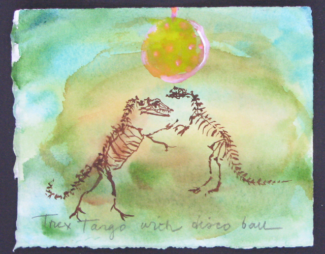 , 'T-Rex Tango with Disco Ball,' 2017, CENTRAL BOOKING