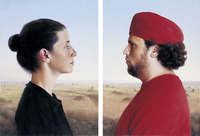 David Nipo, 'Double Portrait of Anat & Shay after Pierro de la Francesca', 2007, Contemporary by Golconda