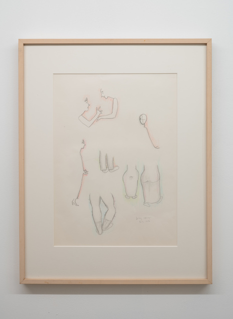 Beatrice Wood, 'Gallery Opening', 1983, Drawing, Collage or other Work on Paper, Graphite and colored pencil on paper, Nina Johnson