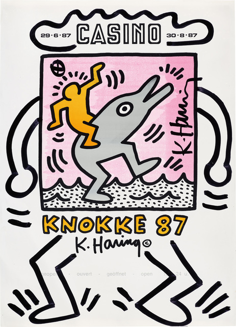 Keith Haring, 'KNOKKE Casino Poster', 1987, Phillips