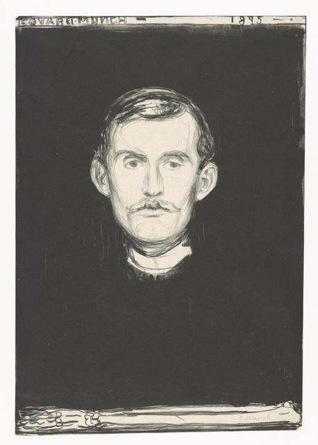 , 'Selvportrett (Self-Portrait),' 1895, Munch Museum