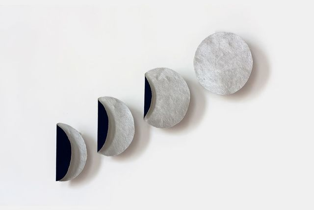 Susan Weil, 'Small Phases of Moon', 2011, Painting, Cyanotype and acrylic on canvas, Sundaram Tagore Gallery