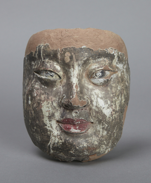 , 'Face of Ananda, an attendant of the Buddha,' 700-750, Princeton University Art Museum