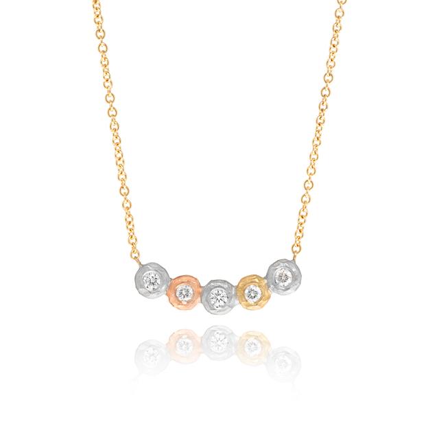 , 'Five Diamond Bezel Crush Necklace,' 2017, Szor Collections