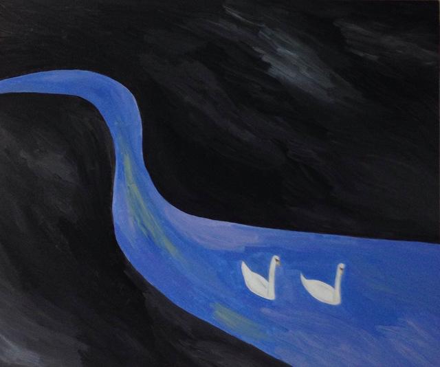 , 'blue line,' 2015, Gallery Side 2