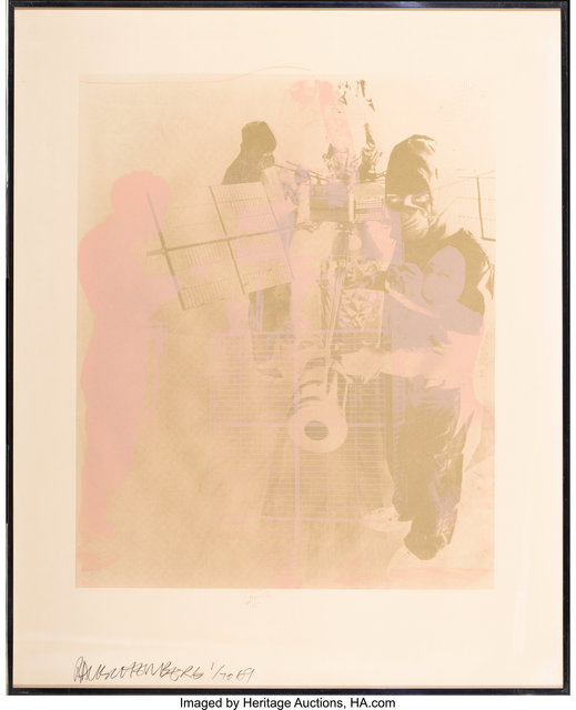 Robert Rauschenberg, 'Shell, from Stoned Moon Series', 1969, Print, Lithograph in colors on Arches paper, Heritage Auctions