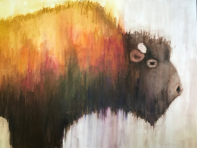 , 'Bison,' 2018, Carter Burden Gallery