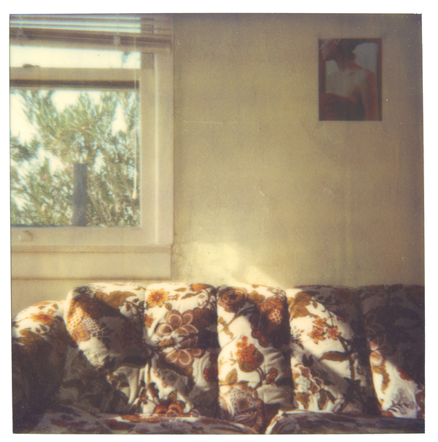 Stefanie Schneider, 'Orange Flowered Couch at Sunset', 1999, Photography, Digital C-Print based on a Polaroid, not mounted, Instantdreams