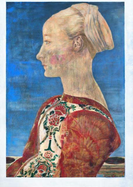 Jochen Plogsties, '28_14 (Profile of a Young Woman)', 2014, kestnergesellschaft