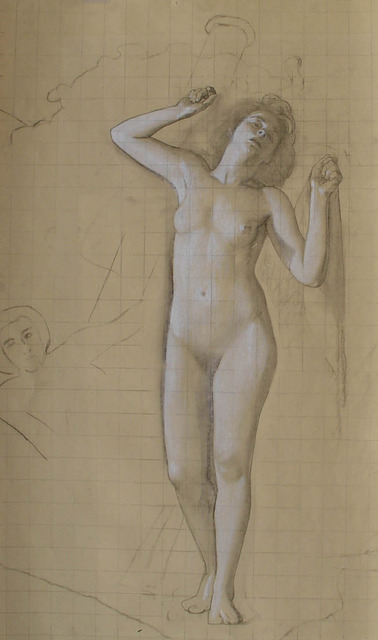 ", '[Venus Rising] Study for the Hound of the Heavens, Panel XI ""Would Clash It To"",' ca. 1940, Childs Gallery"