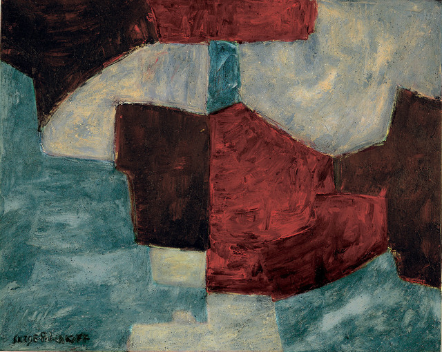 , 'Bleue, rouge lie de vin,' 1965, Ludorff