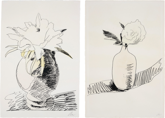 Andy Warhol, 'Flowers (Hand-Coloured): two plates', 1974, Phillips