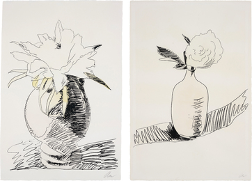 Andy Warhol, 'Flowers (Hand-Coloured): two plates,' 1974, Phillips: Evening and Day Editions