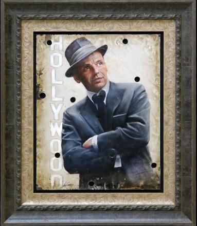 Bill Mack, 'Bill Mack My Way—Frank Sinatra Original Hollywood Sign Mixed Media Unique Print Contemporary Art ', 1980-2010, Modern Artifact