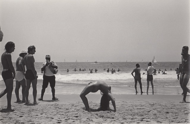 , 'Untitled (Nude woman in back bend on beach),' 1976, Robert Mann Gallery