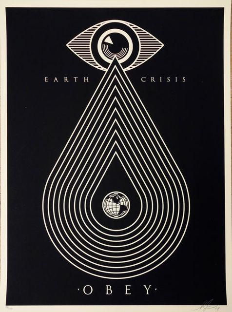Shepard Fairey, 'Earth Crisis Black ', ca. 2017, AYNAC Gallery