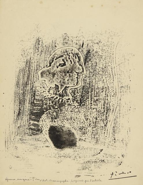 Pablo Picasso, 'Tête avec plume et tarlatane (Ba. 572 bis)', 1932, Sotheby's