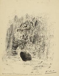 Tête avec plume et tarlatane (Ba. 572 bis)