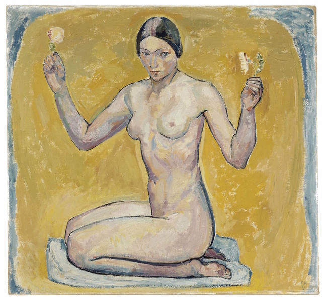 , 'Kneeling Nude on Yellow Ground,' 1913, Museo Reina Sofía